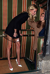 Poppy Delevingne and Suki Waterhouse attend the launch of Annabel's Docu-Film 'A String of Naked Lightbulbs' at Annabel's private members club in Mayfair, London, UK. 28/10/2014<br />