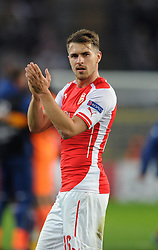 Arsenal's Aaron Ramsey - Photo mandatory by-line: Dougie Allward/JMP - Mobile: 07966 386802 - 22/10/2014 - SPORT - Football - Anderlecht - Constant Vanden Stockstadion - R.S.C. Anderlecht v Arsenal - UEFA Champions League - Group D