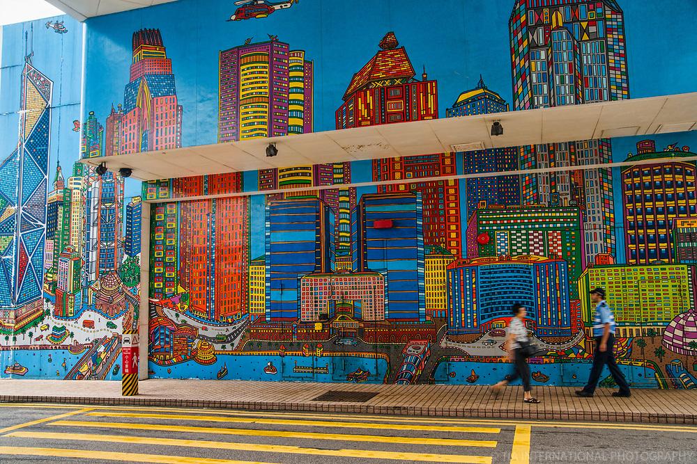 HK Skyline Mural @ Harbour City, Kowloon