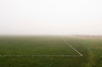 Fog above soccer field