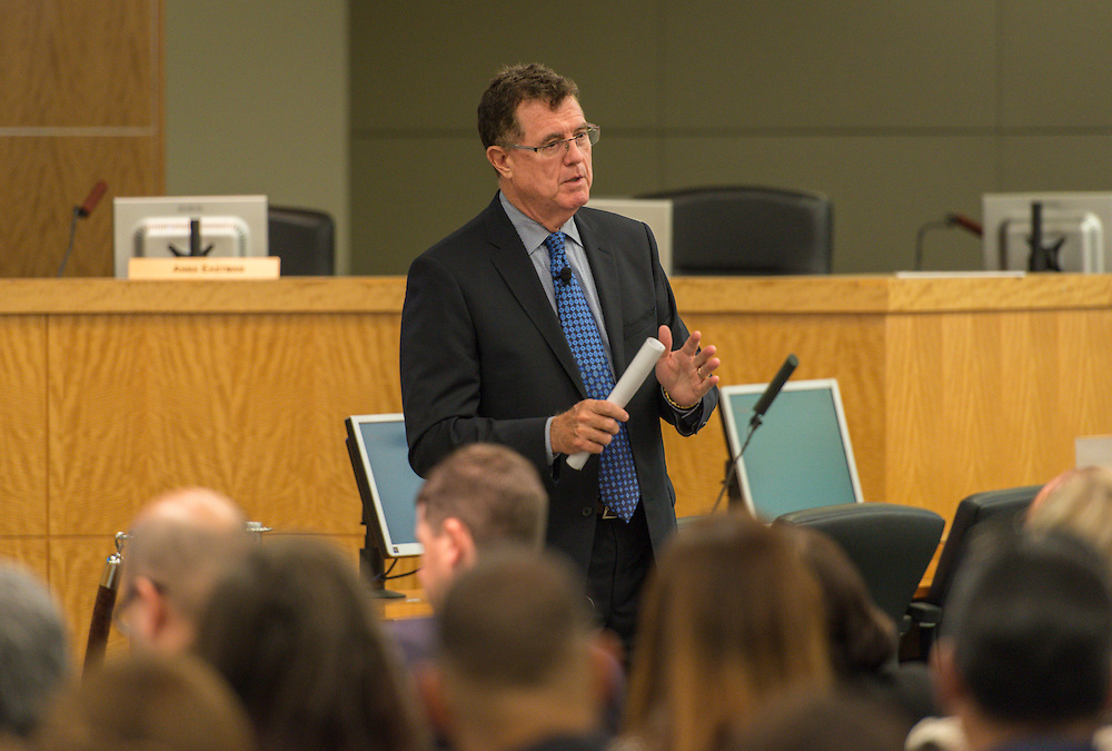 Houston ISD superintendent Dr. Terry Grier comments during the Professional Learning Series, November 4, 2015.