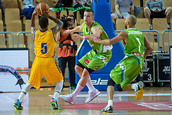 Alen Omic of Slovenia during friendly basketball match between National teams of Slovenia and Ukraineat day 1 of Adecco Cup 2015, on August 21 in Koper, Slovenia. Photo by Grega Valancic / Sportida