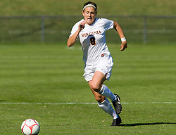 Virginia Cavaliers midfielder/defender Alli Fries (8) in action against BC.  The #9 ranked Virginia Cavaliers defeated the #13 ranked Boston College Eagles 2-1 in NCAA women's soccer at Klockner Stadium on the Grounds of the University of Virginia in Charlottesville, VA on October 19, 2008.