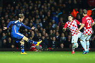 Christian Ansaldi of Argentina scores his team's first goal to make it 1-1 during the International Friendly match at the Boleyn Ground, London<br /> Picture by David Horn/Focus Images Ltd +44 7545 970036<br /> 12/11/2014