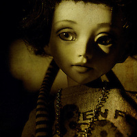 portrait of girl doll