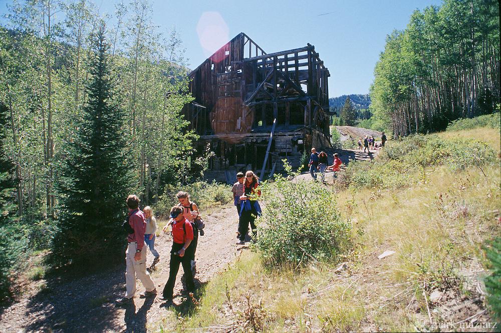 hiking/orienteering at Park City Mountain Resort, Utah, USA