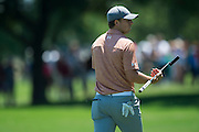 Jordan Spieth walks down the fairway during the final round of the AT&T Byron Nelson in Las Colinas, Texas on May 31, 2015. (Cooper Neill for The New York Times)