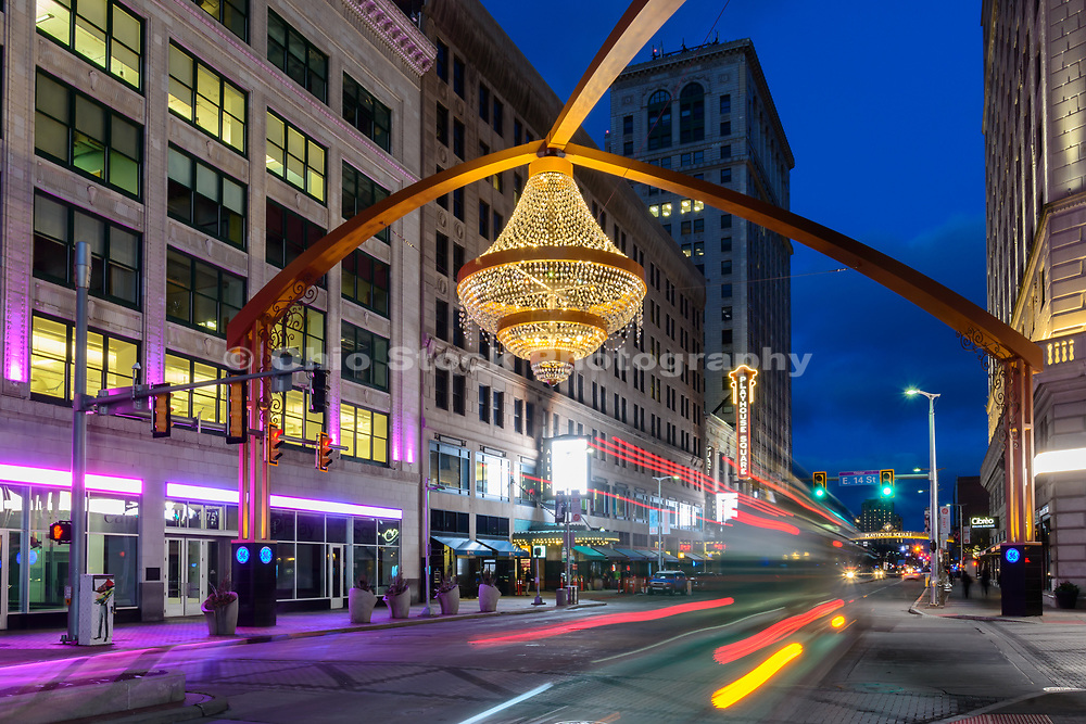 Chandelier in Playhouse Square, Cleveland, Ohio.