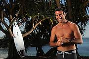 TWEED HEADS, AUSTRALIA - NOVEMBER 15:  2012 ASP World Champion Joel Parkinson poses during a portrait shoot at Duranbah Beach on November 15, 2013 in Tweed Heads, Australia.  (Photo by Matt Roberts/Getty Images)