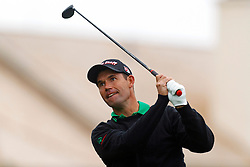 Feb 12, 2012; Pebble Beach CA, USA; Padraig Harrington hits his tee shot on the first hole during the final round of the AT&T Pebble Beach Pro-Am at Pebble Beach Golf Links. Mandatory Credit: Jason O. Watson-US PRESSWIRE