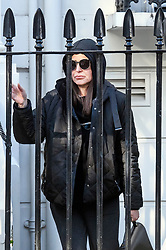 © Licensed to London News Pictures. 13/11/2018. London, UK. Azerbaijani national ZAMIRA HAJIYEVA leaves her home in London this morning, on the day that her extradition case is due to be heard at Westminster Magistrates Court. Zamira Hajiyeva, 55, who spent £16 million over a decade at luxury department store Harrods in London, is the subject of the first two unexplained wealth orders (UWO) obtained by the UK National Crime Agency (NCA) . Her husband, the former Azerbaijan state banker Jahangir Hajiyev, is serving a 15-year prison sentence for embezzlement. Photo credit: Ben Cawthra/LNP