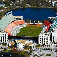 Aerial view of the Florida Citrus Bowl Stadium, Orlando Florida