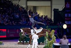 CLAVIJO Juan Martin (COL), For Ever du Chalet CH<br /> Leipzig - Partner Pferd 2019<br /> FEI Vaulting World Cup<br /> 2. Umlauf<br /> Herren / Male<br /> 19. Januar 2019<br /> © www.sportfotos-lafrentz.de/Stefan Lafrentz