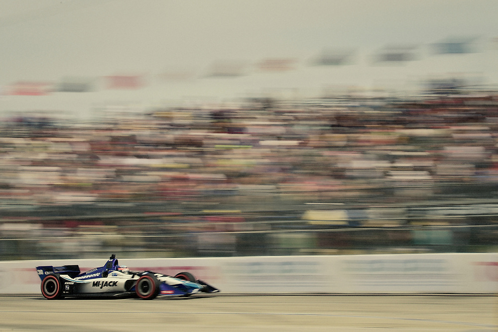 Takuma Sato, Rahal Letterman Lanigan Racing Honda<br /> Sunday 15 April 2018<br /> Toyota Grand Prix of Long Beach<br /> Verizon IndyCar Series<br /> Streets of Long Beach, California USA<br /> World Copyright: Scott R LePage<br /> LAT Images