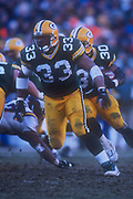 Green Bay Packers fullback William Henderson (33) blocks for running back Ahman Green during an NFL football game, Sunday, Dec. 30, 2001, in Green Bay, Wisc. The Packers defeated the Vikings 24-13.