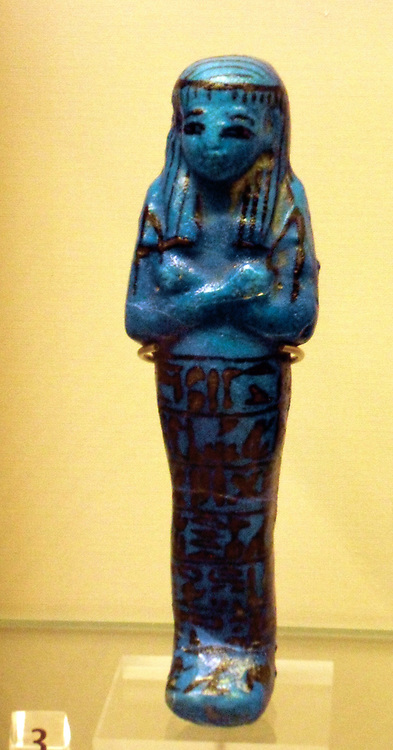 Shabti (also called ushabti, or Shawabti) magical, clay figures of the early dynasty of the Egyptian empire. Shabti also applies to statuettes inscribed with Chapter Six of the Book of the Dead. Otherwise, they might better be defined by the generic term, funerary figurines. The ushabti (also called shabti or shawabti, with a number of variant spellings) were funerary figurines used in Ancient Egypt. They were placed in tombs among the grave goods and were intended to act as substitutes for the deceased, They were used from the Middle Kingdom (around 1900 BC) until the end of the Ptolemaic Period nearly 2000 years later.