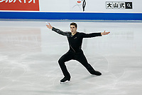KELOWNA, BC - OCTOBER 26: Canadian figure skater Nicolas Nadeau competes during the men's long program / free skate of Skate Canada International held at Prospera Place on October 26, 2019 in Kelowna, Canada. (Photo by Marissa Baecker/Shoot the Breeze)