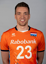 14-05-2018 NED: Team shoot Dutch volleyball team men, Arnhem<br /> Sjoerd Hoogendoorn #23 of Netherlands