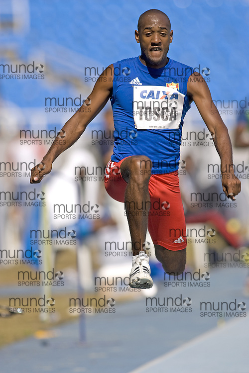 (Rio de Janeiro --- May 23, 2010) Osniel Tosca (  CUB) competes in the triple jump at the 26th annual Grande Prêmio Internacional do Brasil Caixa de Atletismo (Brazil World Athletics Challenge International Grand Prix) at the João Havelange Olympic Stadium in Rio de Janeiro, Brazil.