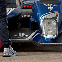 #1 Peugeot 908 HDi FAP in the Pit Lane, Le Mans Series Silverstone 1000KM 2010