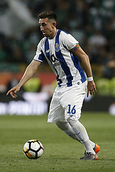 April 18, 2018 - Lisbon, Portugal - Porto's midfielder Hector Herrera in action  during Portuguese Cup 2017/18 match between Sporting CP vs FC Porto, in Lisbon, on April 18, 2018. (Credit Image: © Carlos Palma/NurPhoto via ZUMA Press)