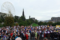 A general view of the referendum campaign tour in Edinburgh.<br /> MP to resume referendum campaign tour. Jim Murphy to make the case for the United Kingdom during his 100 Streets in 100 Days project<br /> Pako Mera/Universal News And Sport (Europe) 02/09/2014