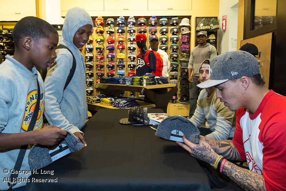 New Orleans Saints wide receiver Kenny Stills makes an in store appearance at  818 Canal Street to promote the New Era NFL Headwear he designed