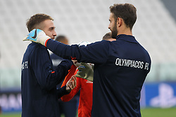 September 26, 2017 - Turin, Piedmont, Italy - The players of Olympiakos FC during the training on the eve of  the UEFA Champions League (Group D) match between Juventus FC and Olympiakos FC  at Allianz Stadium on 26 September, 2017 in Turin, Italy. (Credit Image: © Massimiliano Ferraro/NurPhoto via ZUMA Press)