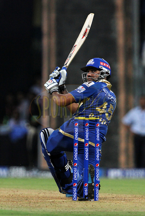 Rohit Sharma captain of the Mumbai Indians plays a shot during match 22 of the Pepsi Indian Premier League Season 2014 between the Mumbai Indians and the Kings XI Punjab held at the Wankhede Cricket Stadium, Mumbai, India on the 3rd May  2014<br /> <br /> Photo by Vipin Pawar / IPL / SPORTZPICS<br /> <br /> <br /> <br /> Image use subject to terms and conditions which can be found here:  http://sportzpics.photoshelter.com/gallery/Pepsi-IPL-Image-terms-and-conditions/G00004VW1IVJ.gB0/C0000TScjhBM6ikg