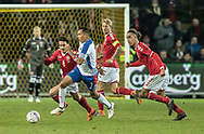 FOOTBALL: Blas Pérez (Panama) in action with Thomas Delaney and Yussuf Poulsen (Denmark) during the friendly match between Denmark and Panama at Brøndby Stadium on March 22, 2018 in Brøndby, Copenhagen, Denmark. Photo by: Claus Birch / ClausBirch.dk.