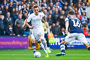Leeds United defender Ben White (5) in action during the EFL Sky Bet Championship match between Millwall and Leeds United at The Den, London, England on 5 October 2019.