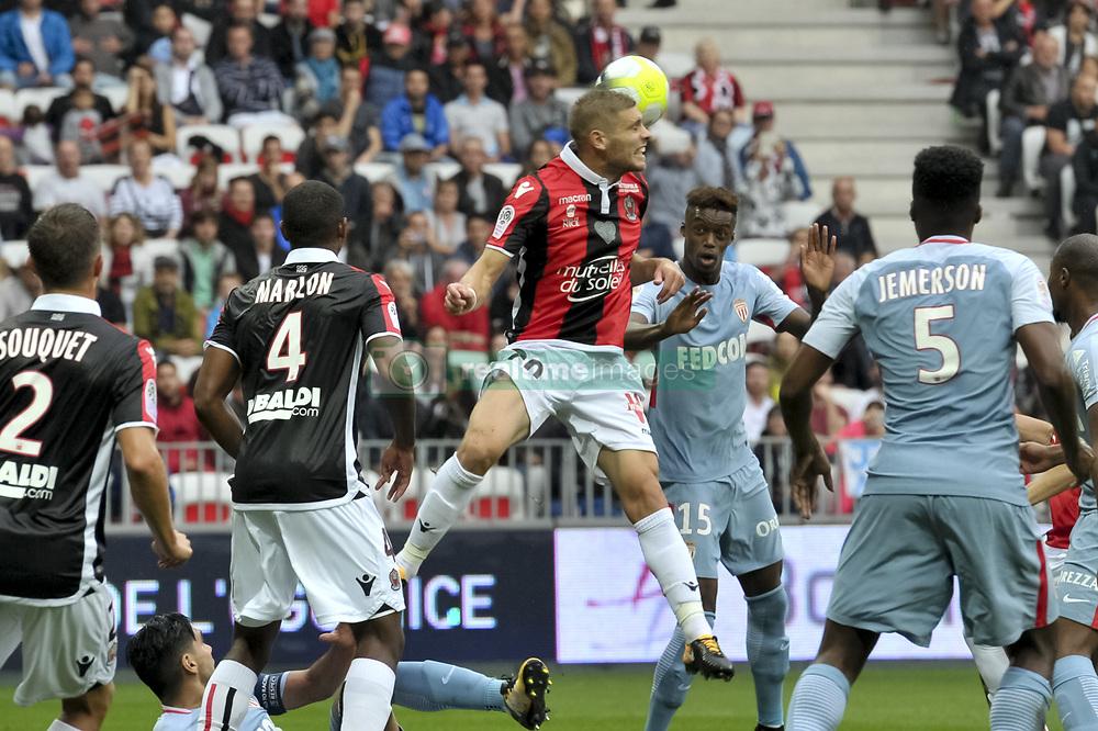 September 9, 2017 - Nice, France - Maxime Le Marchand (OGC Nice) - Adama Diakhaby  (Credit Image: © Panoramic via ZUMA Press)