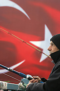 Istanbul, Turkey  031407  Fishermen at the Galata bridge in Istanbul is a common daily sight in Istanbul. (Essdras M Suarez/Globe staff)/Turkey travel