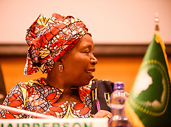 ADDIS ABABA, Jan. 23, 2017  Nkosazana Dlamini-Zuma, Chairperson of the African Union (AU) Commission, attends the opening of the 33rd session of the Permanent Representative Committee (PRC) which kicked off under the theme ''Harnessing the Demographic Dividend through Investments in the Youth'' at the AU headquarters in Addis Ababa, Ethiopia, Jan. 22, 2017. Ambassadors of the 54 member states of the PRC of the AU met on Sunday at the AU headquarters in Ethiopia's capital Addis Ababa.  zjy) (Credit Image: © Michael Tewelde/Xinhua via ZUMA Wire)