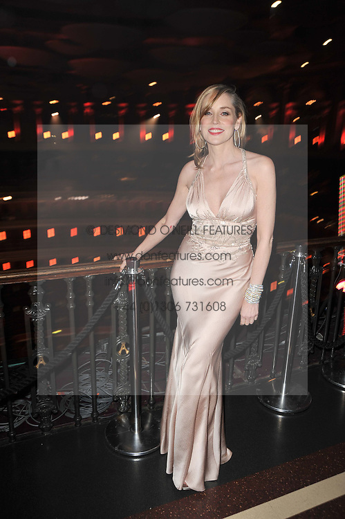 SHARON STONE at a gala eveing to celebrate the 80th birthday of former Soviet leader Mikhail Gorbachev held at The Royal Albert Hall, London on 30th March 2011.