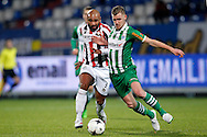 Onderwerp/Subject: Willem II - PEC Zwolle - Eredivisie<br /> Reklame:  <br /> Club/Team/Country: <br /> Seizoen/Season: 2014/2015<br /> FOTO/PHOTO: Samuel ARMENTEROS (L) of Willem II in duel with Maikel VAN DER WERFF (R) of PEC Zwolle. (Photo by PICS UNITED)<br /> <br /> Trefwoorden/Keywords: <br /> #04 $64 &plusmn;1401974349562<br /> Photo- &amp; Copyrights &copy; PICS UNITED <br /> P.O. Box 7164 - 5605 BE  EINDHOVEN (THE NETHERLANDS) <br /> Phone +31 (0)40 296 28 00 <br /> Fax +31 (0) 40 248 47 43 <br /> http://www.pics-united.com <br /> e-mail : sales@pics-united.com (If you would like to raise any issues regarding any aspects of products / service of PICS UNITED) or <br /> e-mail : sales@pics-united.com   <br /> <br /> ATTENTIE: <br /> Publicatie ook bij aanbieding door derden is slechts toegestaan na verkregen toestemming van Pics United. <br /> VOLLEDIGE NAAMSVERMELDING IS VERPLICHT! (&copy; PICS UNITED/Naam Fotograaf, zie veld 4 van de bestandsinfo 'credits') <br /> ATTENTION:  <br /> &copy; Pics United. Reproduction/publication of this photo by any parties is only permitted after authorisation is sought and obtained from  PICS UNITED- THE NETHERLANDS