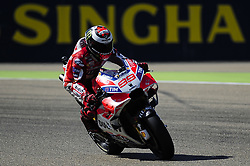 September 23, 2017 - Alcaiz, Spain - Spanish rider Jorge Lorenzo of Ducati Team, in action during the Gran Premio Movistar de Aragon Qualifying on September 23, 2017 in Alcaiz, Spain. (Credit Image: © Joan Cros/NurPhoto via ZUMA Press)