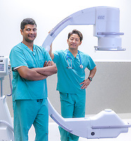 Doctors in the OR at Tuality hospital in Hillsboro, Oregon for Weinstein PR