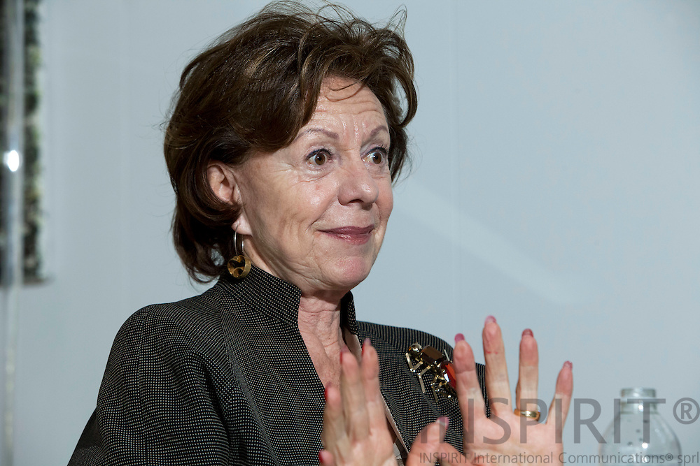 BRUSSELS - BELGIUM - 04 FEBRUARY 2010 -- Neelie Kroes EU-Commissioner for Competition, during an interview in her office. PHOTO: ERIK LUNTANG / INSPIRIT Photo