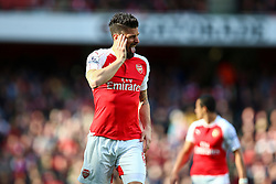 Olivier Giroud of Arsenal - Mandatory byline: Jason Brown/JMP - 07966386802 - 30/04/2016 - FOOTBALL - Emirates Stadium - London, England - Arsenal v Norwich City - Barclays Premier League