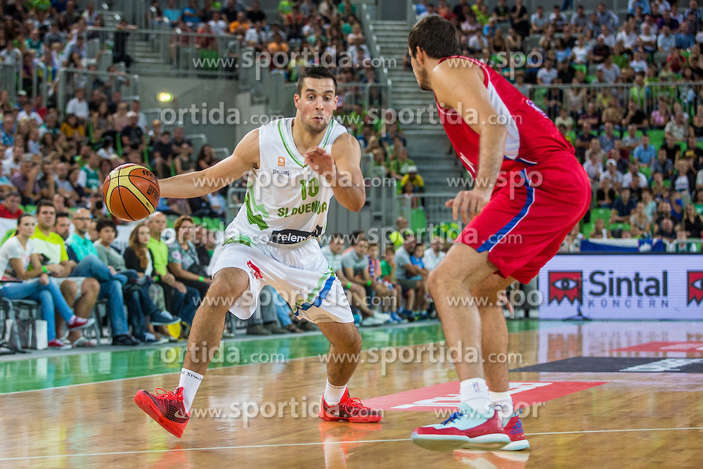 Matic Nikolic of Slovenia during friendly basketball match between National teams of Slovenia and Serbia in arena Stozice, on August 23 in Ljubljana, Slovenia. Photo by Grega Valancic / Sportida August 27, 2015