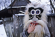 Giulesti. Devil mask utilised for Christmas. In Maramures, not subject to any invasion, apart from the Tartar raids, is preserved virtually the oldest European peasant culture.