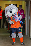 Scunthorpe United Mascot Scunny Bunny dances in the players entrance tunnel moments before the players head out the EFL Sky Bet League 1 match between Scunthorpe United and Rotherham United at Glanford Park, Scunthorpe, England on 10 February 2018. Picture by Craig Zadoroznyj.
