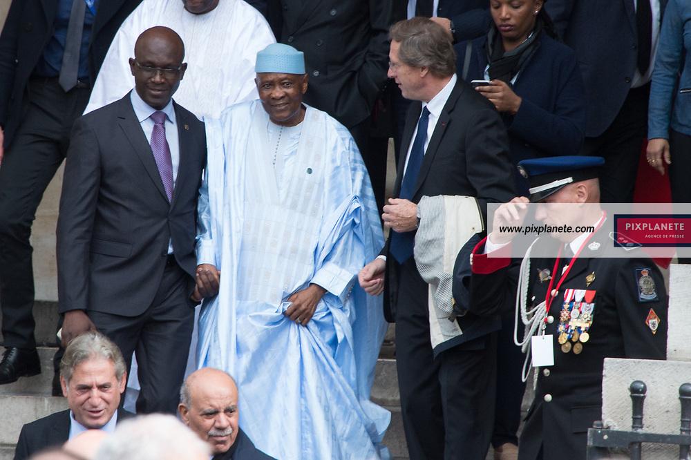 Le président du Mali Ibrahim Boubacar Keïta Obsèques de Jacques Chirac Lundi 30 Septembre 2019 église Saint Sulpice Paris