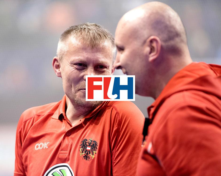 BERLIN - Indoor Hockey World Cup<br /> Quarterfinal 2: Austria - Poland<br /> foto: SZMIDT Tomasz.<br /> WORLDSPORTPICS COPYRIGHT FRANK UIJLENBROEK