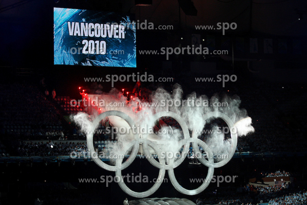 Olympic Winter Games Vancouver 2010 - Olympische Winter Spiele Vancouver 2010, Opening Ceremony in the BC Place Stadium,  olympic rings, Olympische Ringe,  *Photo by Malte Christians / HOCH ZWEI / SPORTIDA.com.