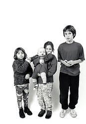 Group of children UK 1990s