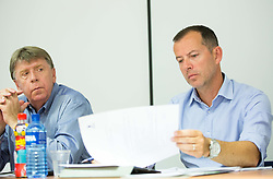 Drago Bahun and Enzo Smrekar during meeting of Executive Committee of Ski Association of Slovenia (SZS) on June 16, 2015 in Ljubljana, Slovenia. Photo by Vid Ponikvar / Sportida