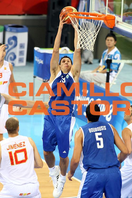 DESCRIZIONE : Beijing Pechino Olympic Games Olimpiadi 2008 Spain Greece <br />GIOCATORE : Dimitris Diamantidis<br />SQUADRA : Grecia<br />EVENTO : Olympic Games Olimpiadi 2008<br />GARA : Spagna Grecia<br />DATA : 10/08/2008 <br />CATEGORIA : Tiro<br />SPORT : Pallacanestro <br />AUTORE : Agenzia Ciamillo-Castoria/G.Ciamillo<br />Galleria : Beijing Pechino Olympic Games Olimpiadi 2008 <br />Fotonotizia : Beijing Pechino Olympic Games Olimpiadi 2008 Spain Greece <br />Predefinita :