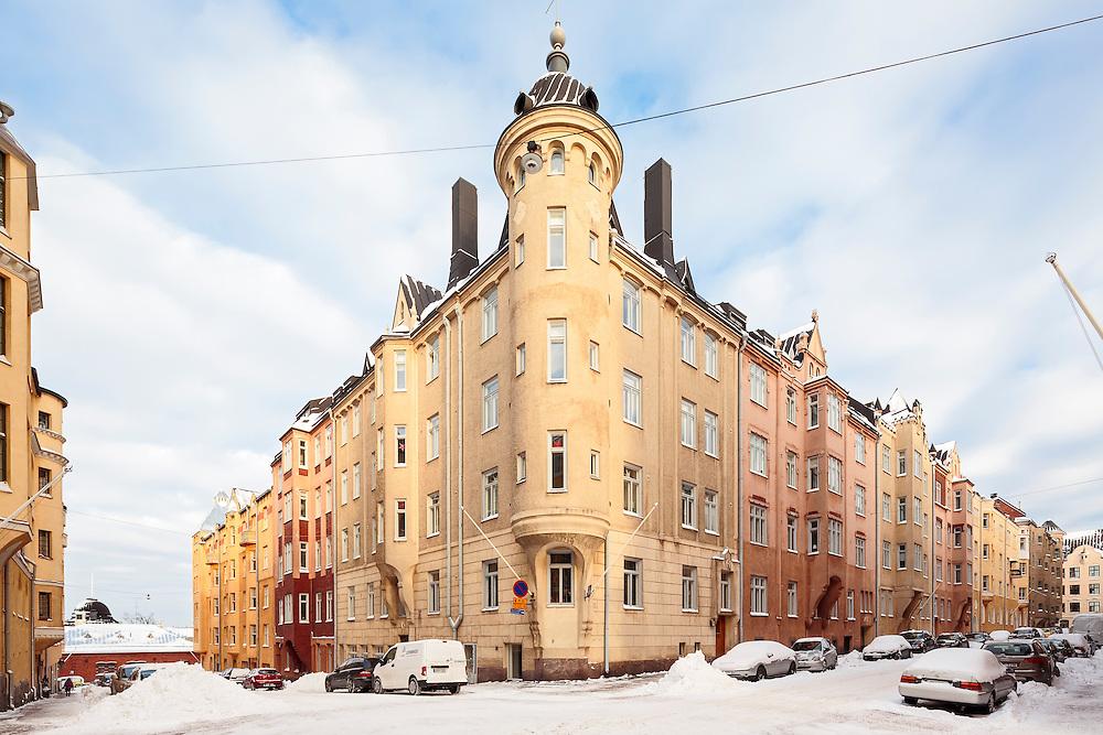 National romantic architecture of Katajanokka in Helsnki, Finland